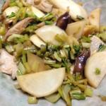 【レシピ】聖護院カブラの炒め物